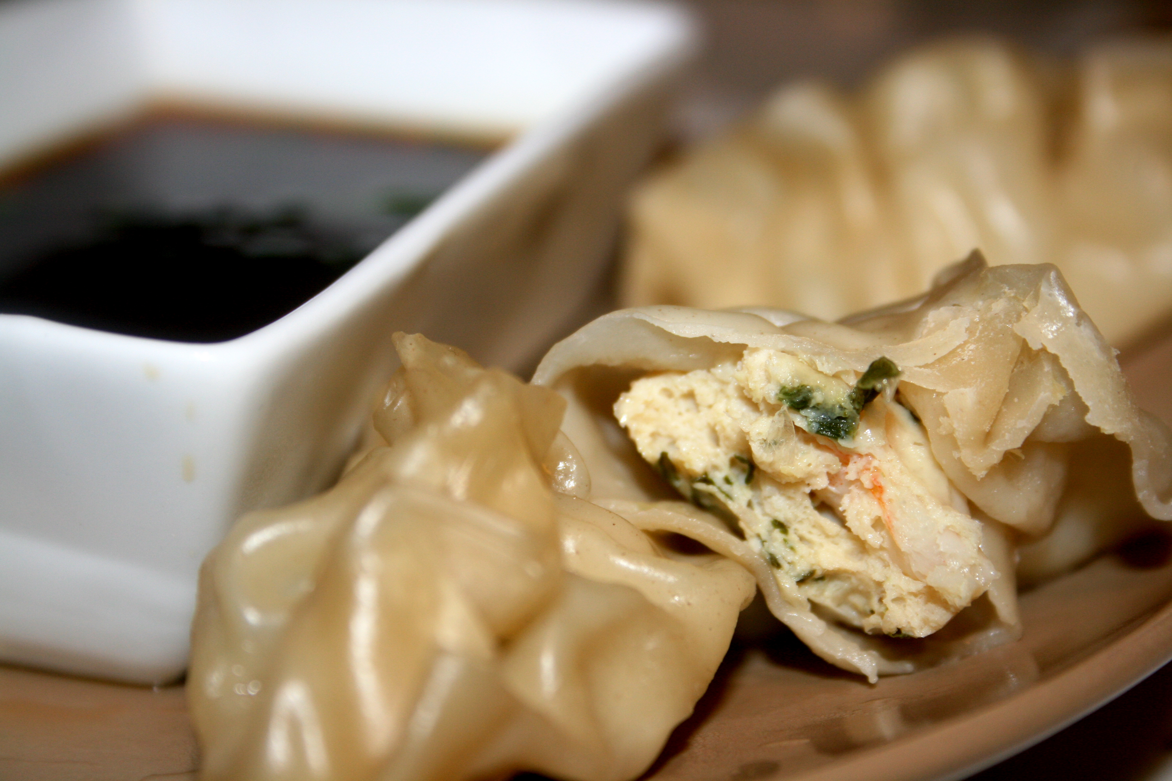 Chicken and Shrimp Dumplings and Miso Noodle Soup | developing a ...