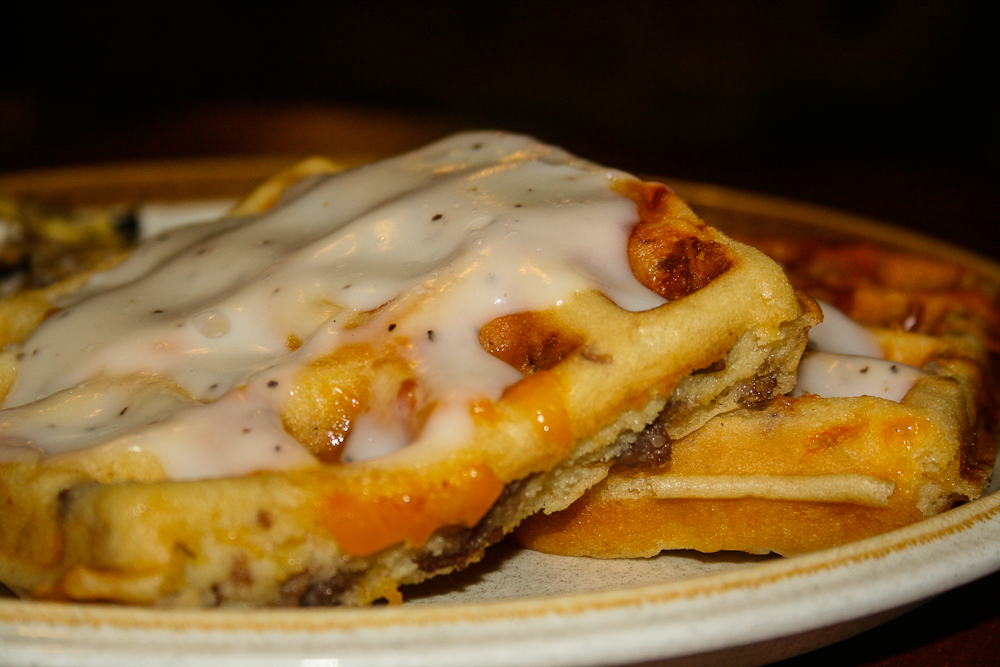 Savory Sausage and Cheese Waffles | developing a pattern